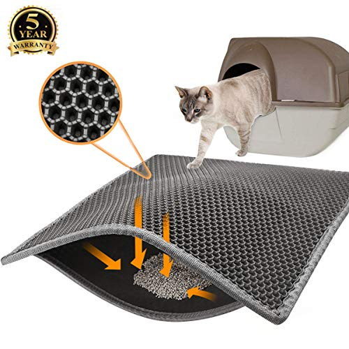 Covos Cat Litter Mat, Double Layer Honeycomb Waterproof Urineproof size24