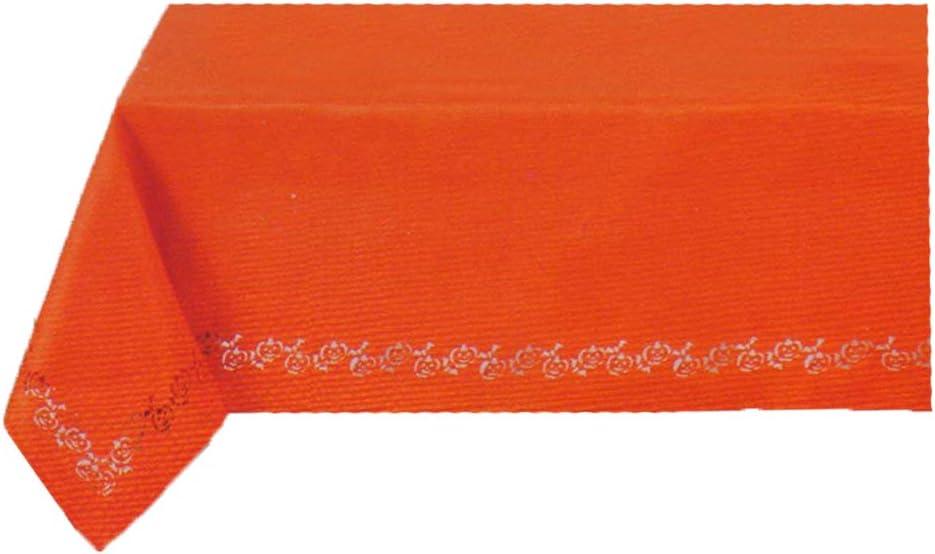 60 x 102 Rectangle//Oblong, Orange Elrene Halloween Jack O Lantern Pumpkin Laser Cut Fabric Tablecloth