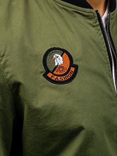 Giacca 4497 Militare Bolf Casual Con Cerniera Bomber – Uomo Khaki Da 4d4 f5SwqHa