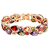 Best Bamoer Christmas Decorations - BAMOER Rose Gold Plated Multicolor Cubic Zirconia Bracelet Review