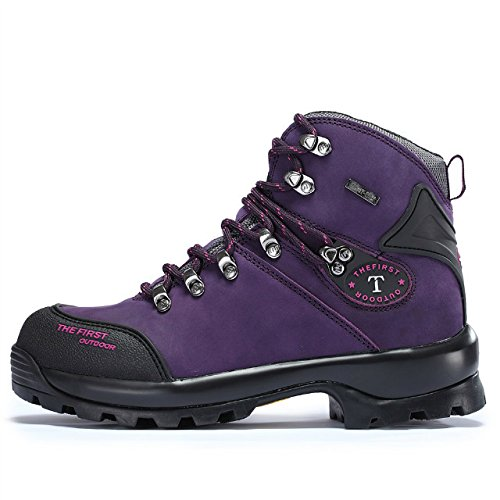 Boots Boots Shoes Rise Women's Outdoor Purple Hiking Climbing Walking Slip TFO High Anti Waterproof Leather CqUnzSxxOt