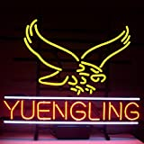 "HOT Eagle 17""x 14"" New Yuengling Lager Eagle Real Glass Neon Beer Bar Pub Light Signs for Home Shop Store Beer Bar Pub Restaurant Billiards Shops Display Signboards"