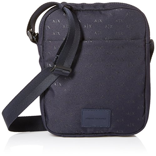 Armani Exchange Men's Allover Logo Satchel, - Armani Men Bag