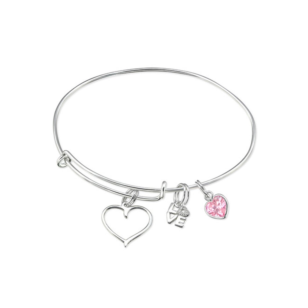 Hanging Love Charms Bangles 925 Sterling Silver Liara Polished And Nickel Free