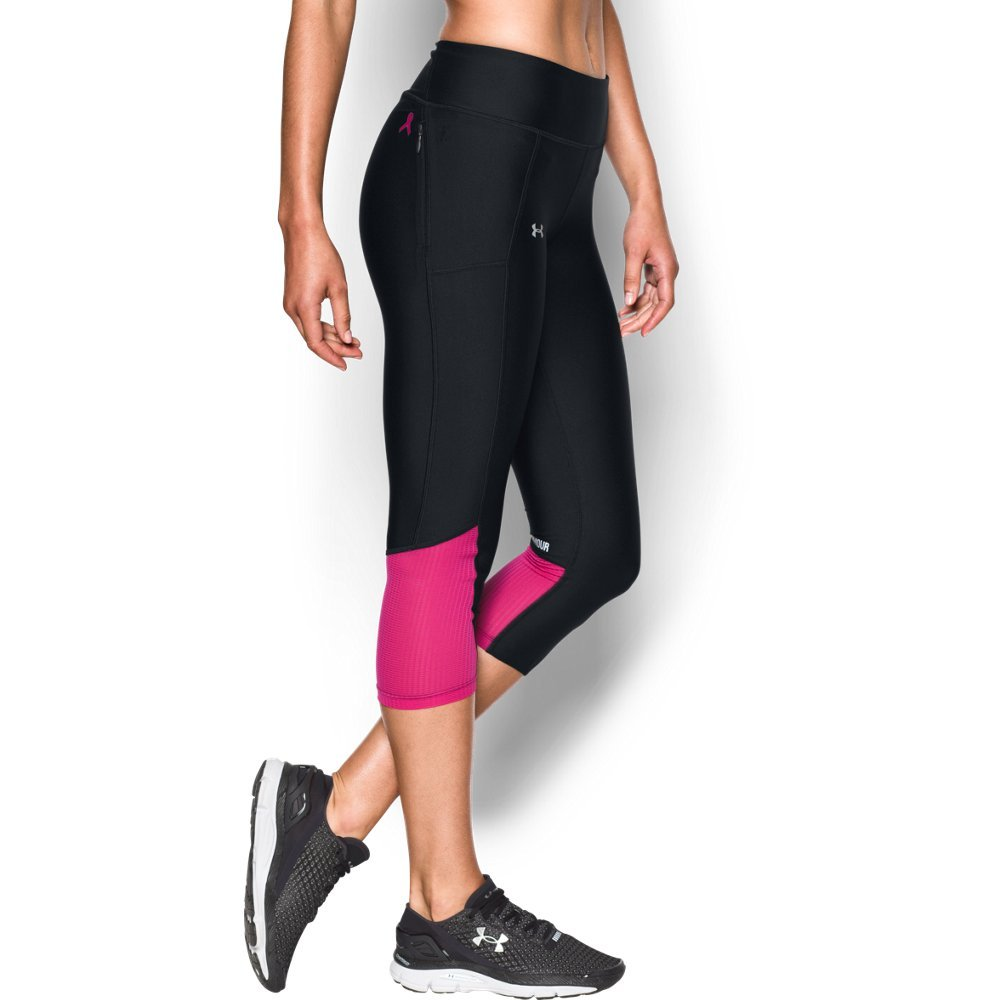 Under Armour Women's Fly-By Capri,Black (023)/Reflective, X-Small