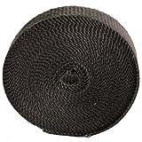 """Heatshield Products 321025 Black 1"""" Wide x 25' Exhaust Wrap Roll"""