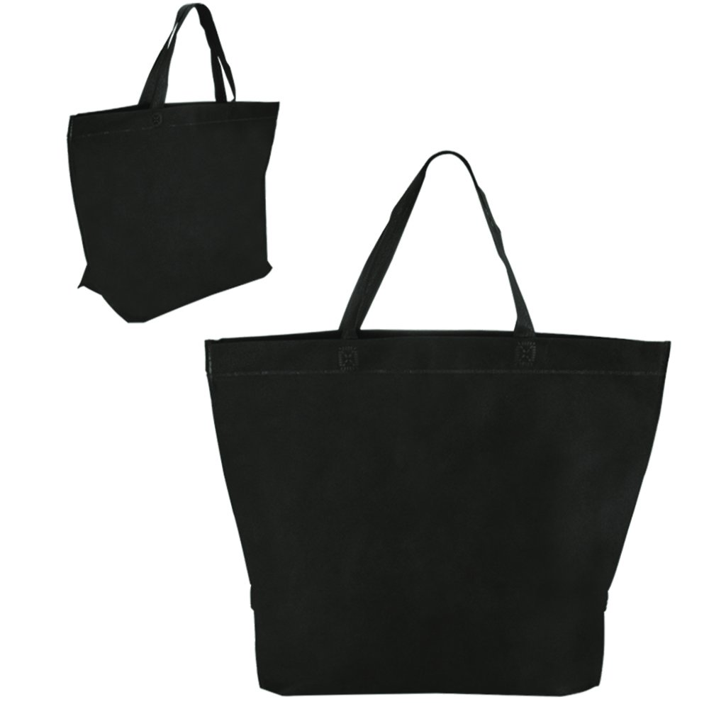 Two Tone Heat Sealed Shopper Tote - 150 Quantity - $1.85 Each - PROMOTIONAL PRODUCT / BULK / BRANDED with YOUR LOGO / CUSTOMIZED by Sunrise Identity (Image #3)