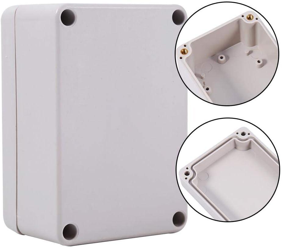 Keenso wasserdichte elektrische Anschlussdose f/ür den Au/ßeneinbau IP65-Anschlussdose-Kabelverbinder ABS-Kunststoff-Projektgeh/äuse 65x60x35mm