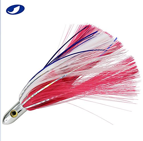 1 PC Offshore Big Game 7 in Trolling Lure for Marlin Tuna Mahi Dolphin Durado Wahoo Trolling Lures Free Mesh No Hook (Pink)