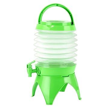 winomo - Bidón de agua dispensador de agua con grifo portátil plegable para camping Viajes 5L: Amazon.es: Deportes y aire libre