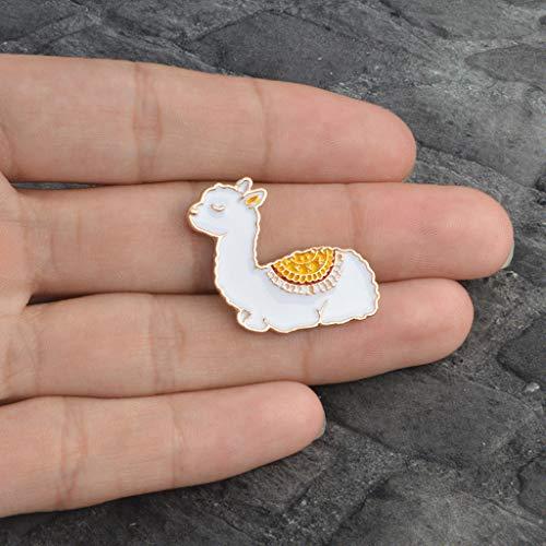 Xeminor Premium Cartoon Llama Enamel Cute Alpaca Styling Badge Brooches Pin for Women Men by Xeminor (Image #1)