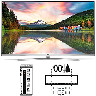 LG 60UH8500 - 60-Inch Super Ultra HD 4K Smart LED TV Slim Flat Wall Mount Bundle inclues LG 60UH8500 4K TV, Slim Flat Wall Mount Ultimate Kit and 6 Outlet Power Strip with USB Ports