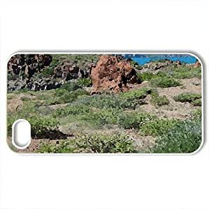 Nature - Case Cover for iPhone 4 and 4s (Deserts Series, Watercolor style, White)