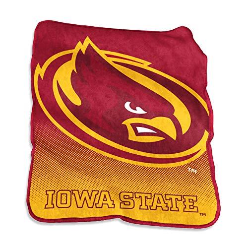 Logo Brands NCAA Iowa State Cyclones Raschel Throw, One Size, Cardinal