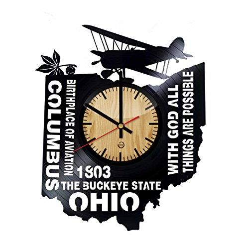 Welcome Dzen Store Ohio State Wall Clock - Get unique of home room wall decor - Gift ideas for friends - The Buckeye State Unique Art Design - Ohio State University Wall Clock