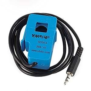 DealMux del cableado de salida SCT-013-020 1M 3.5mm Split-núcleo de transformador de corriente 20A 1V