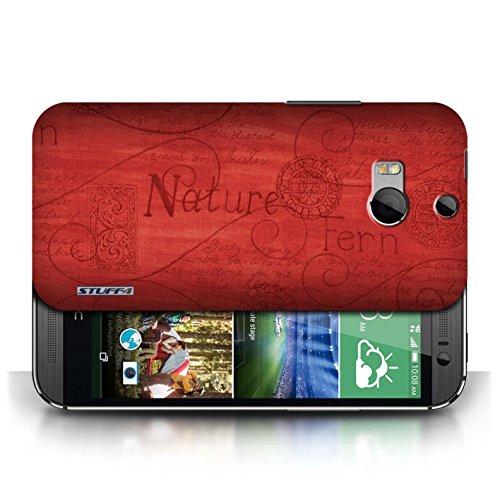 Etui / Coque pour HTC One/1 M8 / Rouge conception / Collection de Motif Nature