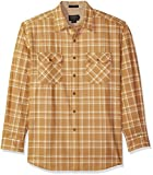 Pendleton Men's Long Sleeve Maverick Merino Wool Shirt, Gold Plaid, LG