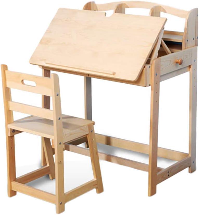 Juegos de mesas y sillas Juego de mesa y silla de madera maciza mesa de estudio mesa de escritura de jardín de infancia hermoso regalo mesa de estudiante en casa y juego