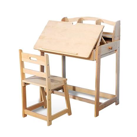 Amazon.com: Juego de mesa y sillas Xing Hua Shop de madera ...