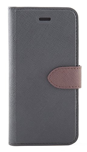 Blu Element 2 in 1 Folio iPhone 8/7 Black/Brown (B21I7BK) by BLU