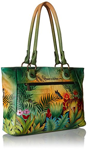 Anuschka Large Shopper with Front Pocketsrousseau's Jungle, Rsj/Rousseau's Jungle by ANUSCHKA (Image #2)