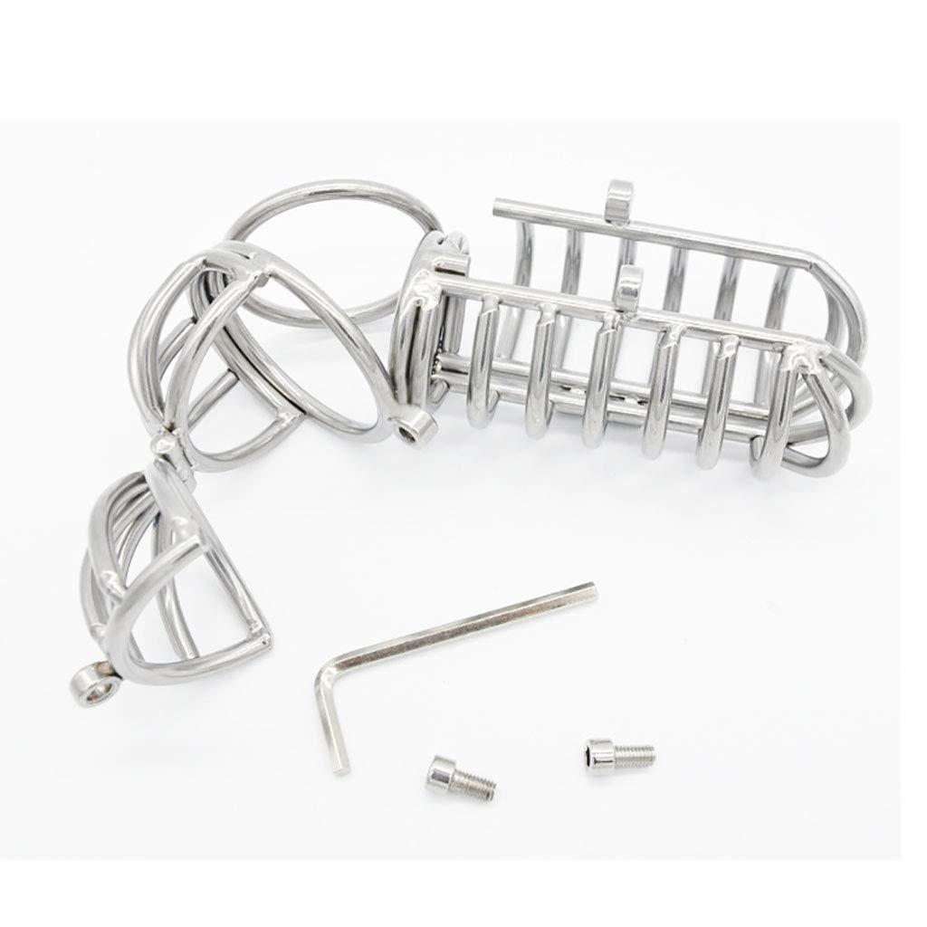 Cintura di castità Gabbia di castità, dispositivo dispositivo dispositivo di castità in acciaio inossidabile Dispositivo di castità in metallo Dispositivo di blocco del pene A070 d37079
