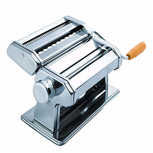 Stainless Steel Fresh Pasta Maker Roller Machine for Spaghetti Noodle 3 BLADE ATTACHMENTS Great Quality from unbrnaded