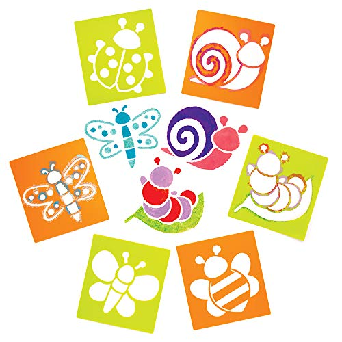 Baker Ross Bug Stencils (Pack of 6) Ideal for Kids Spring Themed Arts and Crafts Activities -