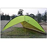 HKJCC Outdoor Enlargement Triangle Triangle Canopy Camping Tent Multi-Person Family Beach Awning pergola,Green