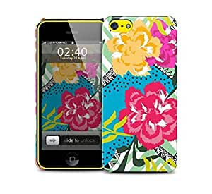 floral collage bright colours iPhone 5c protective phone case