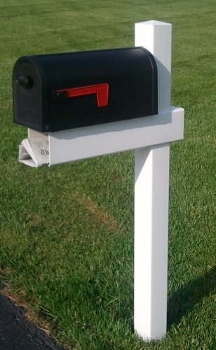 Green Newspaper Holder (Handy Post 54-in x 24-in White Vinyl Mailbox Post Sleeve)
