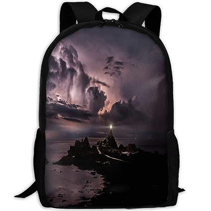 afa6f48204c7 Amazon.com: Wialis8-id Amazing Lighthouse School Backpack Canvas ...