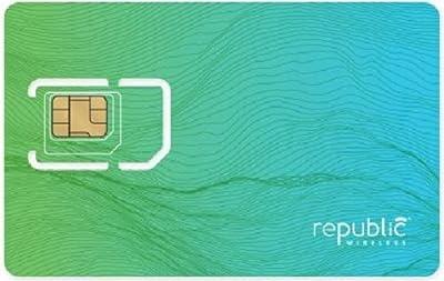 Republic Wireless Complete SIM Starter Kit - Prepaid Carrier Locked, Green