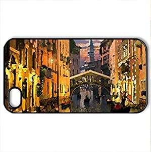 Venice - Case Cover for iPhone 4 and 4s (Watercolor style, Black)