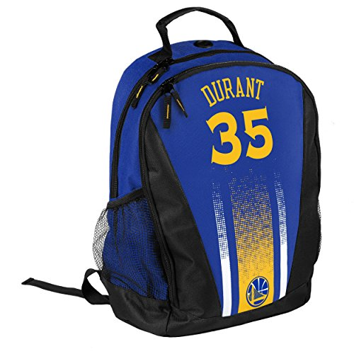 FOCO Golden State Warriors Durant K. #35 2016 Stripe Primetime Backpack - Blue by FOCO