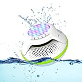 COWIN COWIN-Swimmer Waterproof Bluetooth Speaker 4.0 Portable Floating Wireless Speakers IPX7 with 10W Plus Deep Bass and Colorful LED Light