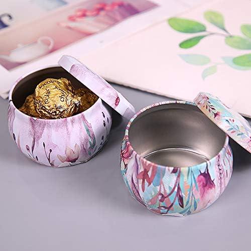 Feder BinSanda Stilvoll und raffiniert Kleine kreative Hochzeit S/ü/ßigkeiten Geschenk Box Wei/ßblech Blume Tee Box