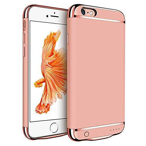 iPhone 6 6S Plus Battery Case, Emarket® 3500mAh Capacity Portable Extended Backup Power Bank Battery Charger Case For Apple iPhone 6 6S Plus 5.5 Inch (Rose Gold)