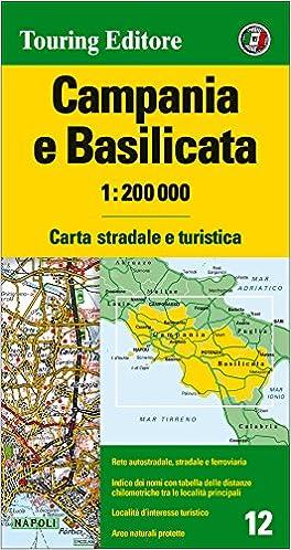 Cartina Stradale Basilicata Puglia.Amazon It Campania E Basilicata 1 200 000 Carta Stradale E