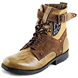 Richfield Rado Zeus Mens Genuine Leather Teak long Buckle Closing Cowboy Casual Boots UK 8