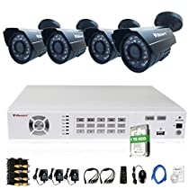 iSmart 8 Channel 960H HDMI DVR Kit with 1TB HDD Pre-installed including 4 800TVL Bullet Security Camera System with 24 Leds D5608WH+C1030DP8