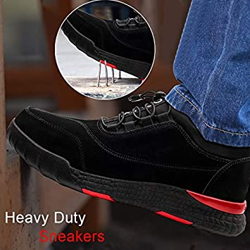Zoomarlous Women Men Heavy Duty Sneakers Anti Slip Breathable Safe Protective Worker Shoes