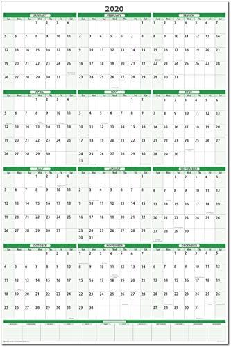 (Earth Green 2020 Dry-Erase Vertical Wall Calendar 32