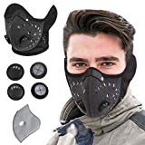 KINGBIKE Dust Mask with Windproof Ear Muff with Extra Filter ActivaCted Carbon Filter Filtration Cotton Sheet Valves Exhaust Anti Allergy PM2.5 N95 N99