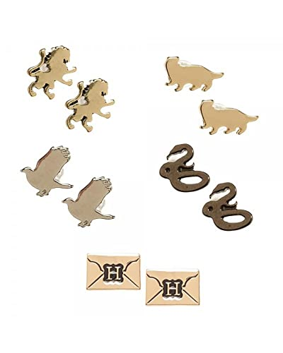781e25f05 Image Unavailable. Image not available for. Color: Harry Potter 5 Pack  House Symbols Envelope Earring Set