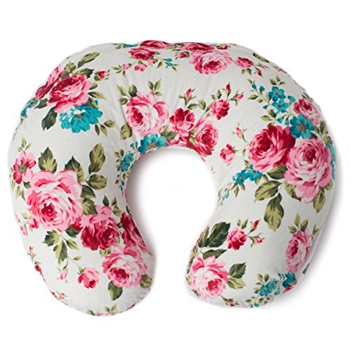 Pink Nursing Pillows - Minky Nursing Pillow Cover | White