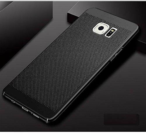 Funda Samsung Galaxy S6,Alta Calidad Ultra Slim Anti-Rasguño y Resistente Huellas Dactilares Totalmente Protectora Caso de Plástico Duro Case,Cuadrícula Disipación de calor Antideslizante Cover(YQ5-2) A