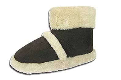 f9b6fcd27250b Ladies Coolers Furry Ankle Boot Bootee Slippers Sizes 3 - 8 (Small UK 3-