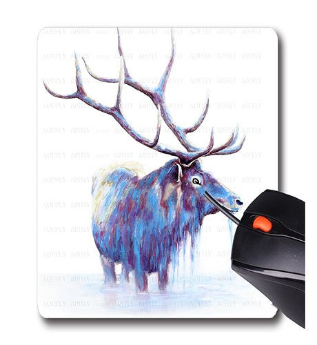 51Ugaa D32L - AOFFLY Michelle Faber - Elk in Water - Non-Slip Rubber Mousepad Gaming Mouse Pad